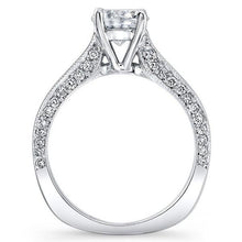 Load image into Gallery viewer, Barkev's Princess Cut Channel Set Blue Diamond Engagement Ring