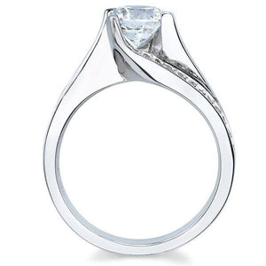 Barkev's Prong Set Tension Twist Diamond Engagement Ring