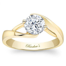Load image into Gallery viewer, Barkev's Swirl Solitaire Diamond Engagement Ring