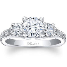Load image into Gallery viewer, Barkev's Three Stone Diamond Engagement Ring with Side Diamonds