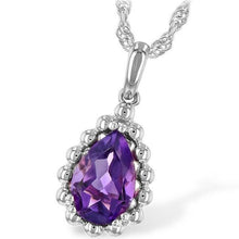 "Load image into Gallery viewer, Ben Garelick Pear Cut Amethyst ""Bubble"" Pendant"