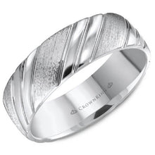Load image into Gallery viewer, CrownRing Lite Diagonal High Polished Wedding Band