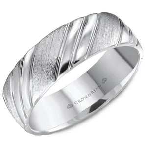 CrownRing Lite Diagonal High Polished Wedding Band