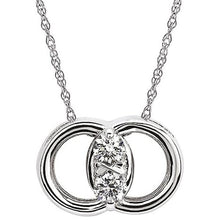 Load image into Gallery viewer, Diamond Marriage Symbol® 0.12 Carat Two-Stone Diamond Pendant