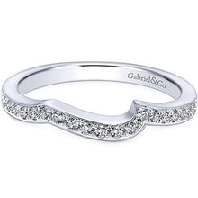 "Load image into Gallery viewer, Gabriel ""Aleesa"" Curved Diamond Wedding Ring"