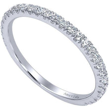 "Load image into Gallery viewer, Gabriel ""Alexandra"" Straight Diamond Wedding Band"