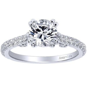 "Gabriel Amavida ""Alexandra"" Classic Shared Prong Diamond Engagement Ring"