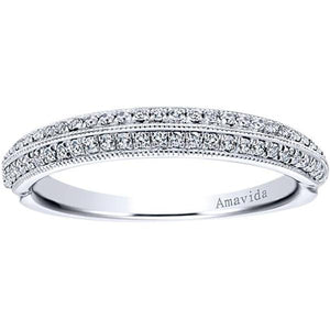 "Gabriel Amavida ""Georgia"" Diamond Wedding Band"