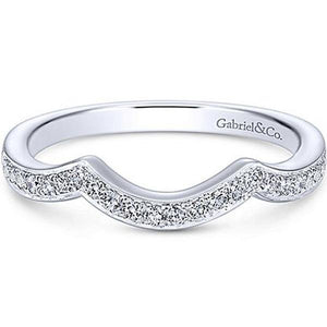 "Gabriel ""Bailey"" Curved Diamond Wedding Ring"