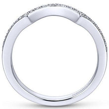 "Load image into Gallery viewer, Gabriel ""Bailey"" Curved Diamond Wedding Ring"