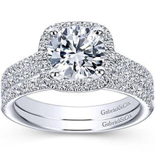 "Load image into Gallery viewer, Gabriel ""Brianna"" Diamond Wedding Band"