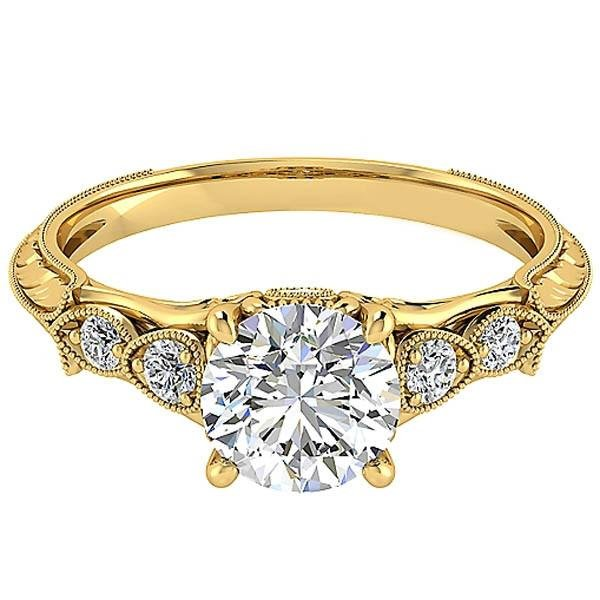 Gabriel Chelsea Milgrain Diamond Engagement Ring