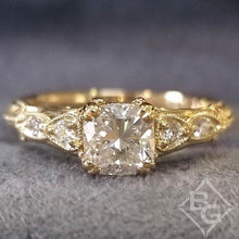 Load image into Gallery viewer, Gabriel Chelsea Milgrain Diamond Engagement Ring