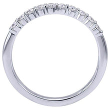 "Load image into Gallery viewer, Gabriel ""Darby"" Straight Prong Set Diamond Wedding Ring"