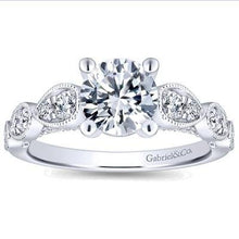 "Load image into Gallery viewer, Gabriel ""Garland"" Miligrain Vintage Style Diamond Engagement Ring"