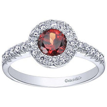 Load image into Gallery viewer, Gabriel Garnet Halo Diamond Fashion Ring
