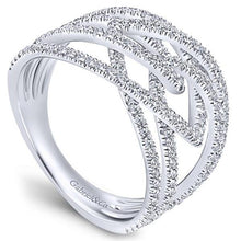"Load image into Gallery viewer, Gabriel Intertwining ""Intermingled"" Diamond Right Hand Ring"