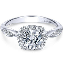 "Load image into Gallery viewer, Gabriel ""Jude"" Round Halo Diamond Engagement Ring"