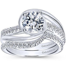 "Load image into Gallery viewer, Gabriel ""Lucca"" Bypass Halo Diamond Engagement Ring"
