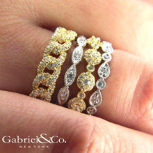 "Load image into Gallery viewer, Gabriel ""Luminous"" Vintage Styled Diamond Ring with Milgrain Finish"