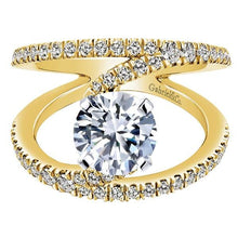 "Load image into Gallery viewer, Gabriel ""Nova"" Yellow Gold Contemporary Split Shank Diamond Engagement Ring"