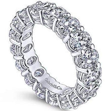 Load image into Gallery viewer, Gabriel Oval Cut Diamond Eternity Band