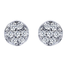 Load image into Gallery viewer, Gabriel Pave Diamond Stud Earrings