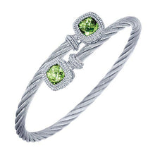Load image into Gallery viewer, Gabriel Peridot Bangle Cable Bracelet