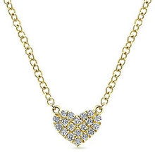 Load image into Gallery viewer, Gabriel Petite Pave Diamond Heart Pendant
