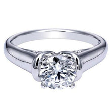 "Load image into Gallery viewer, Gabriel ""Quinn"" High Polish Solitaire Diamond Engagement Ring"