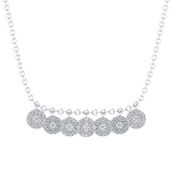 Gabriel Seven Cluster Diamond Station Necklace