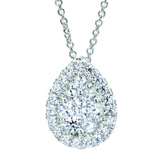 Load image into Gallery viewer, Gabriel Tear Drop Cluster Diamond Pendant