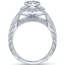 "Load image into Gallery viewer, Gabriel ""Theresa"" Vintage Style Halo Diamond Engagement Ring"