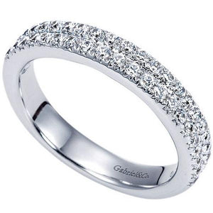 Gabriel Two Row Diamond Pave Anniversary Band