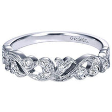 Load image into Gallery viewer, Gabriel Vintage Style Filigree Scrollwork Diamond Ring