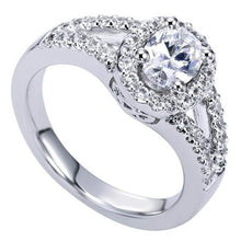 "Load image into Gallery viewer, Gabriel ""Vita"" Oval Cut Diamond Halo Engagement Ring"