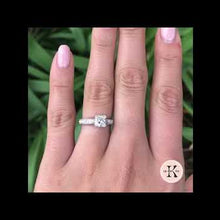 Load and play video in Gallery viewer, Kirk Kara Stella Princess Cut Diamond Engagement Ring