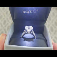 "Load and play video in Gallery viewer, Simon G. Large Center ""Cathedral Style"" Diamond Engagement Ring"