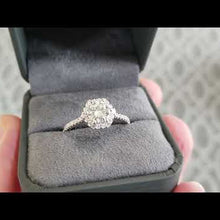 "Load and play video in Gallery viewer, Artcarved ""Lorelei"" Hexagon Halo Diamond Engagement Ring"