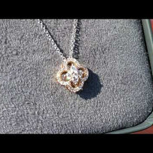 "Load and play video in Gallery viewer, Gabriel 14K Rose Gold Diamond ""Clover"" Pendant"