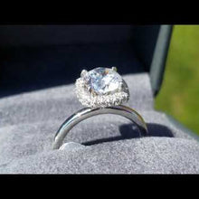 "Load and play video in Gallery viewer, Gabriel Amavida ""Graham"" Cushion Halo Diamond Engagement Ring"