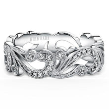 Load image into Gallery viewer, Kirk Kara Angelique Scroll Work Diamond Anniversary Ring