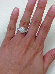 "Kirk Kara ""Carmella"" Round Cut Halo Diamond Engagement Ring"