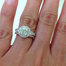 "Load image into Gallery viewer, Kirk Kara ""Carmella"" Round Cut Halo Diamond Engagement Ring"
