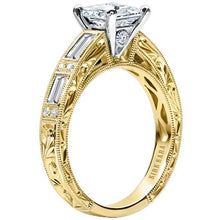 "Load image into Gallery viewer, Kirk Kara ""Charlotte"" Baguette Cut Diamond Engagement Ring"