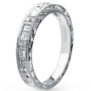 "Kirk Kara ""Charlotte"" Princess Cut Diamond Wedding Band"