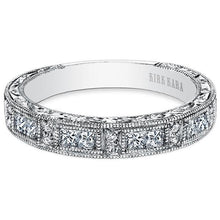 "Load image into Gallery viewer, Kirk Kara ""Charlotte"" Princess Cut Diamond Wedding Band"