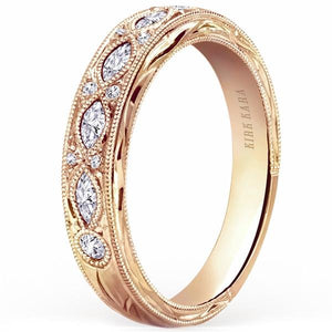 "Kirk Kara ""Dahlia"" Marquise Cut Diamond Wedding Band"