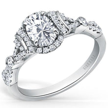 Load image into Gallery viewer, Kirk Kara Lori Oval Cut Halo Diamond Engagement Ring
