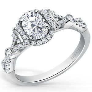 Kirk Kara Lori Oval Cut Halo Diamond Engagement Ring